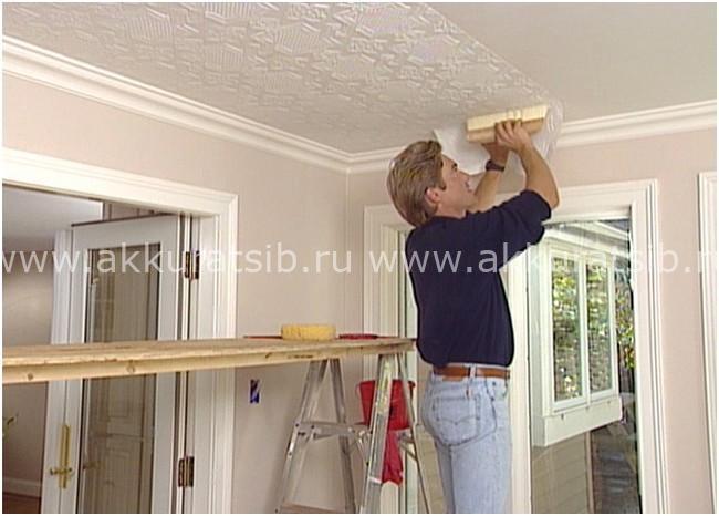 Стеклообои для потолка